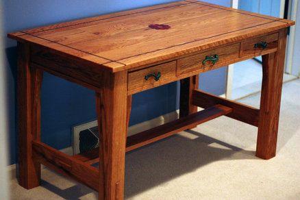 Pdf Plans Craftsman Style Desk Download Cabinet Making Glass Doors Diy Wood Projects Furniture Craftsman Desks Craftsman Style House Plans