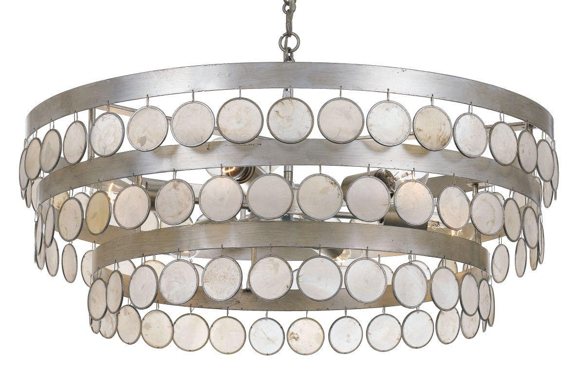 Crystorama lighting group 6008 coco 6 light 28 wide chandelier with crystorama lighting group 6008 coco 6 light 28 wide chandelier with hanging cap antique silver arubaitofo Gallery