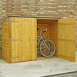 bike store shed 6x2 in shiplap with pent roof by finewood - Garden Sheds 6 X 2