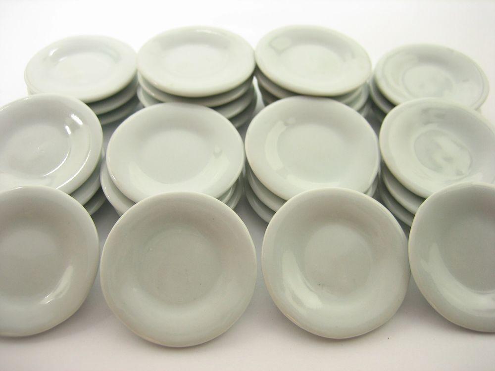30x10 mm Mini White Round Bowl Dollhouse Miniatures Ceramic Supply 12581