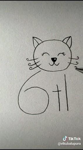 How to draw kitty