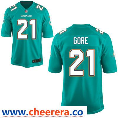 outlet store bf6e3 f64c3 Men's Miami Dolphins #21 Frank Gore Green Team Color ...