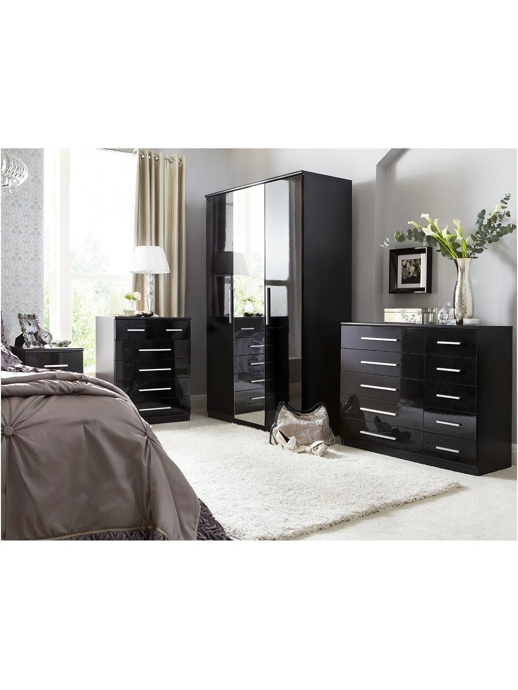 Prague Gloss  Drawer Bedside Chest