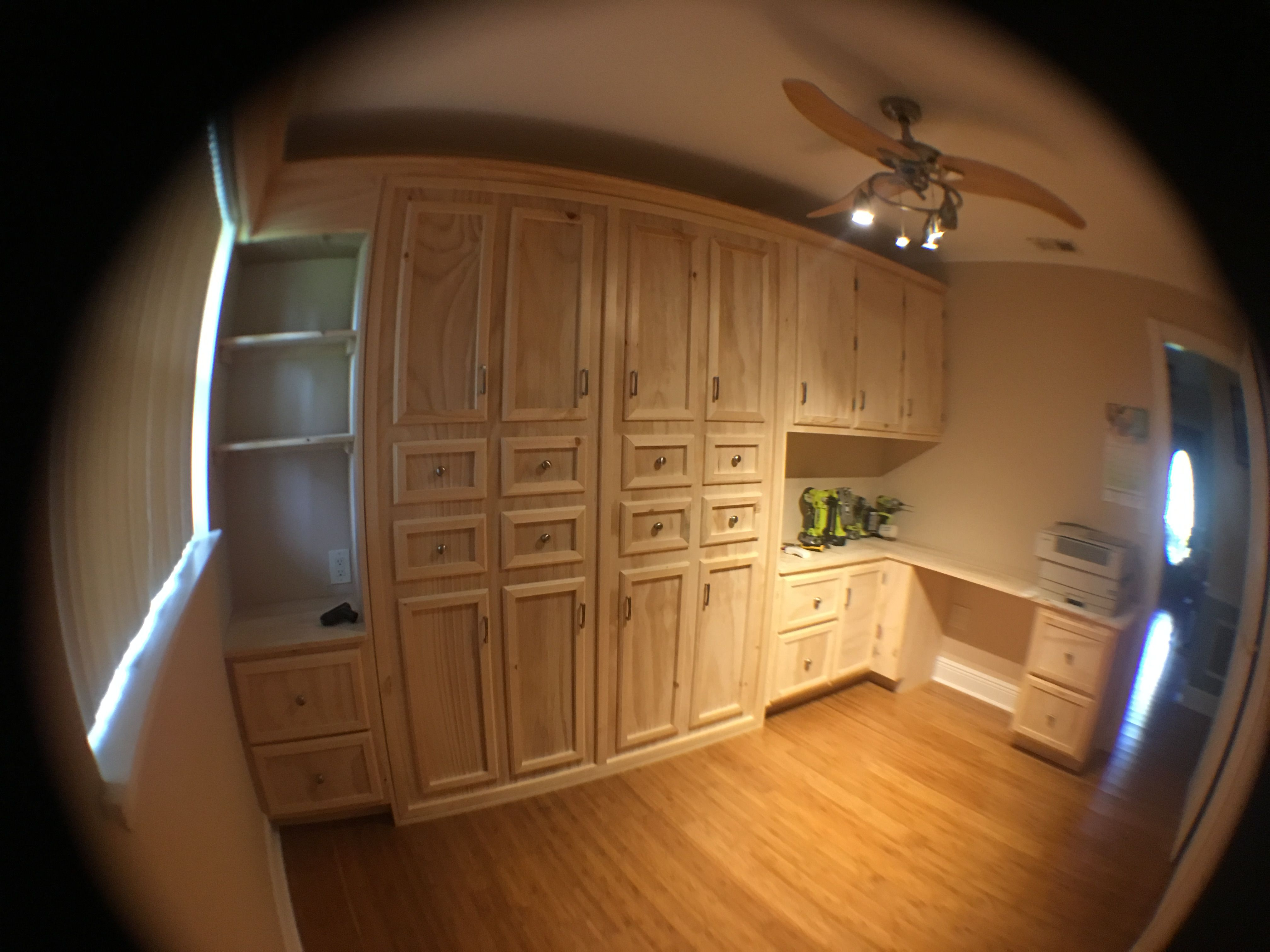 Murphy bed/home office I built in my house. House