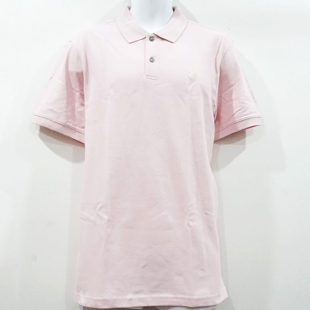 Nwt Banana Republic Mens Pink Elephant Logo Pique Polo Shirt Size L