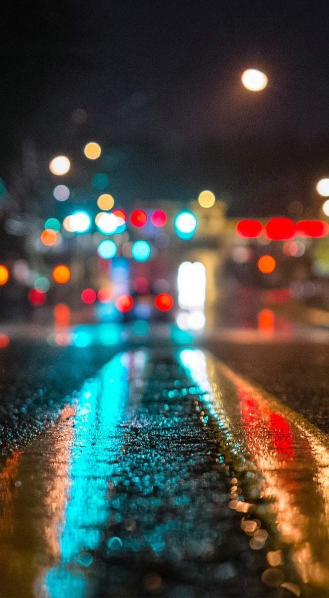 Nature Wallpapers Road In The Dark City Wallpapers Http Www Fabuloussavers Com Road In The Dark Bokeh Wallpaper Iphone 6s Wallpaper Best Iphone Wallpapers