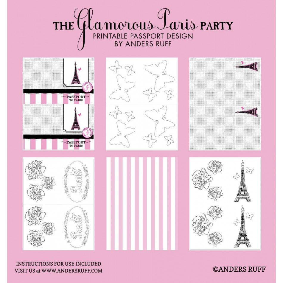 Glamorous Paris Passport Coloring Book | Father/Daughter ...