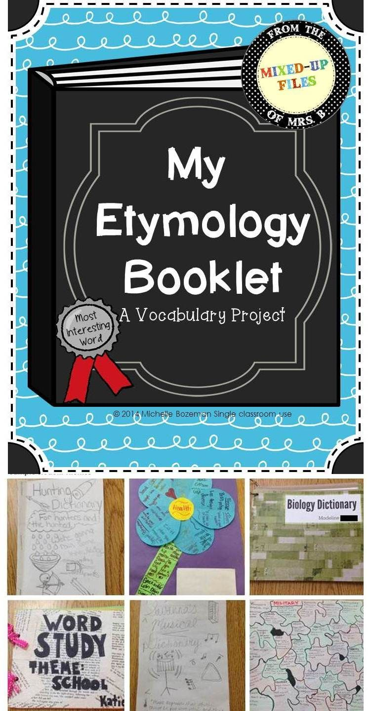 etymology vocabulary project poetry english education 2