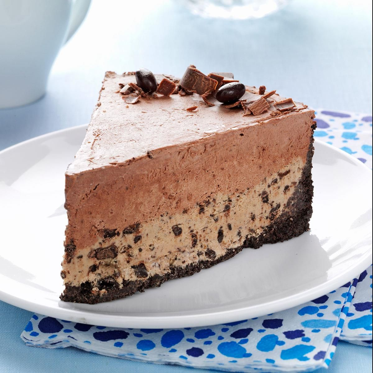 Chocolatecoffee bean ice cream cake recipe desserts