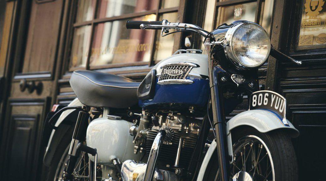 Triumph Bonneville T120 Royal Blue 1959 à Vendre Chez Legend