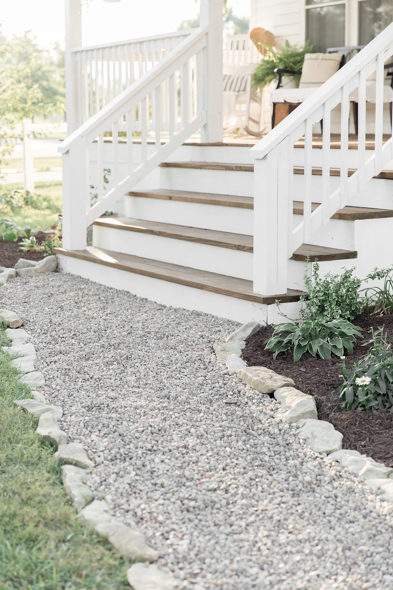 How To Cover Concrete Steps With Wood Front Porch Design Concrete Porch Front Porch Decorating