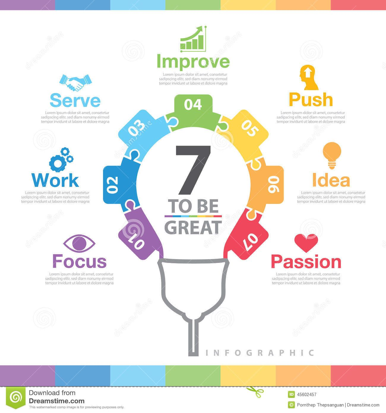 to-be-great-infographic-success-way-concept-can-used-layout-web ...