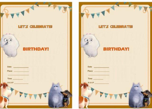 Secret Life Of Pets Party Printables
