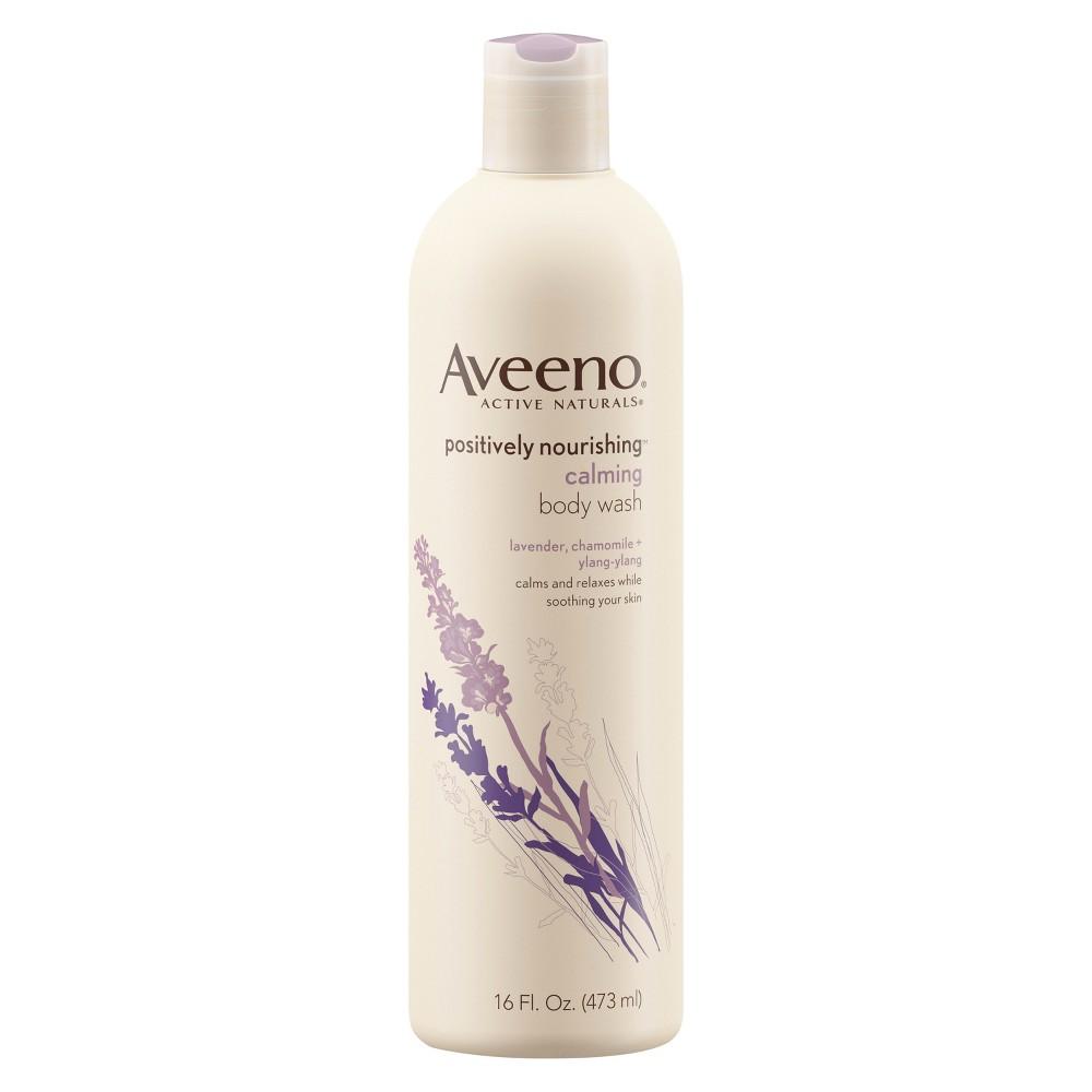 Aveeno Positively Nourishing Calming Lavender Body Wash- 16 fl oz