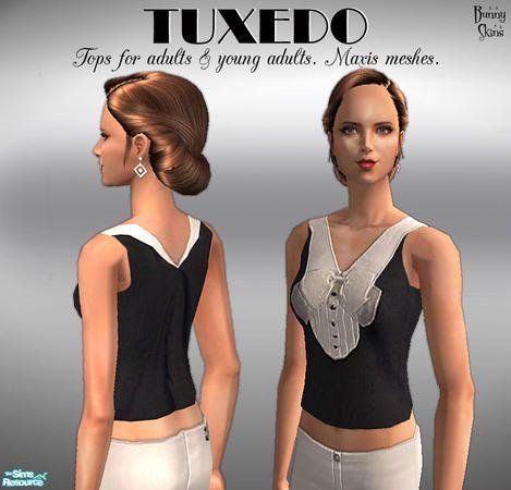 *Bunny*'s Tuxedo Tops: Organza Bow
