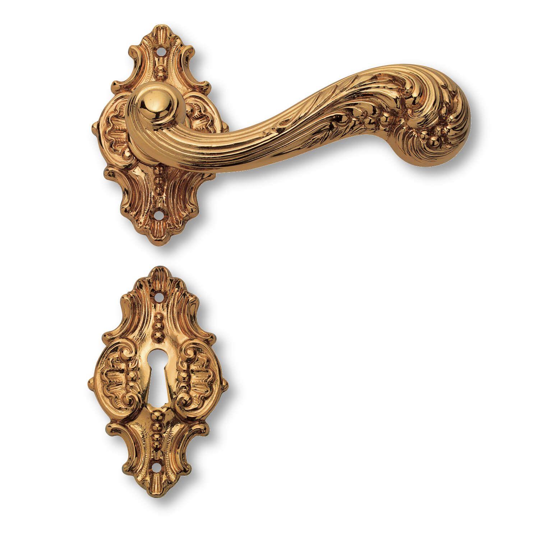 Door handle interior - Brass rosette / escutcheon - Italian Baroque ...