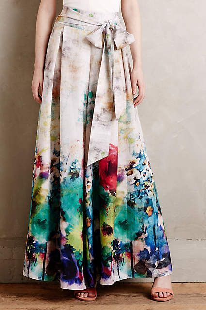 falda larga estampada en tablas 6c705135431