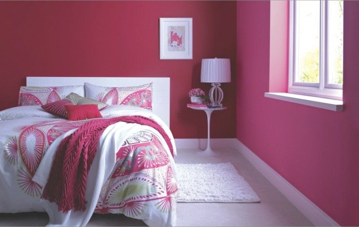 Make A Statement With Rich Bright Pink Walls To Keep The Look Sophisticated And Fresh Combine Contemporary White Accessories Furniture