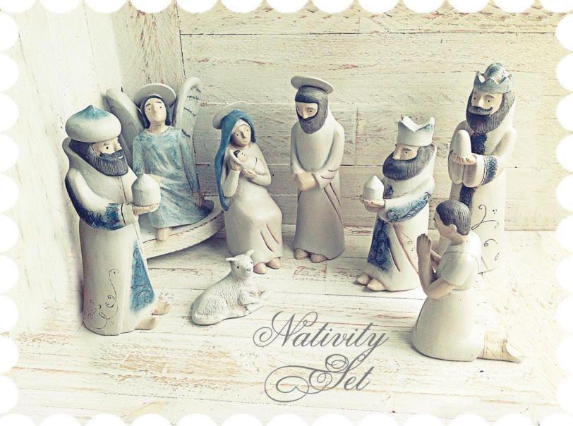 Nativity set creche belen gift ideas pinterest christmas nativity set creche belen solutioingenieria Images