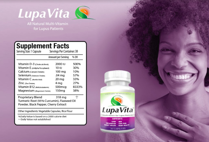 LupaVita is a multivitamin focusing on common deficiencies seen throughout Lupus patients: Vitamin D, Vitamin B12, Magnesium