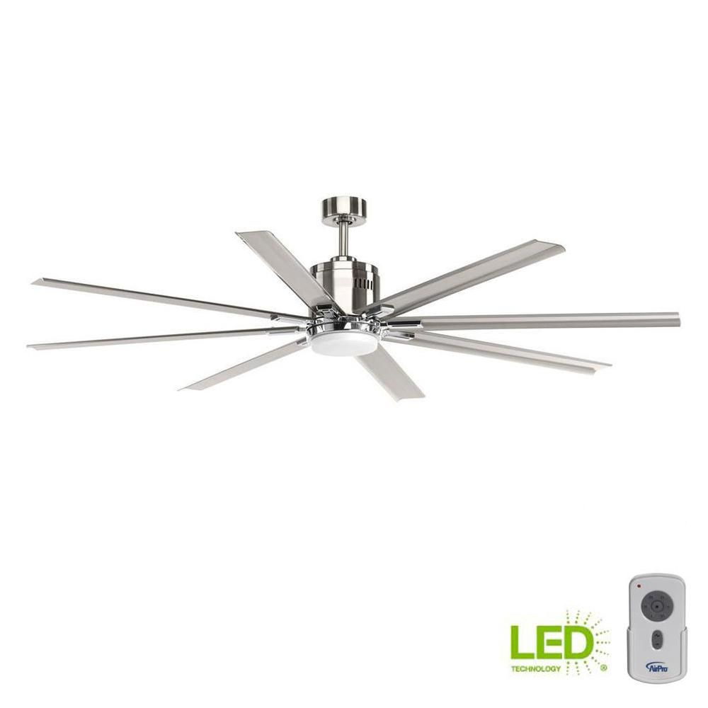 Progress Lighting Vast Collection 72 In Led Indoor Brushed Nickel
