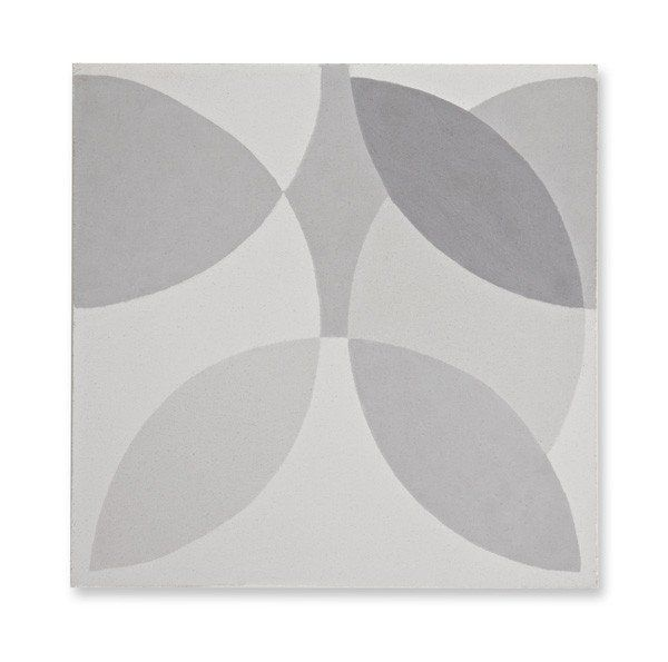 'Leaf' grey encaustic (featured in Elle Decoration UK)