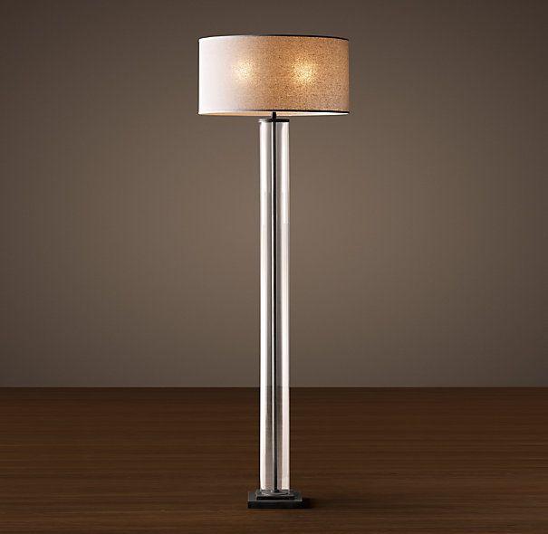 French Column Gl Floor Lamp