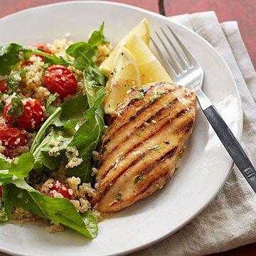Lemon-Herb Chicken with Quinoa - FamilyCircle.com