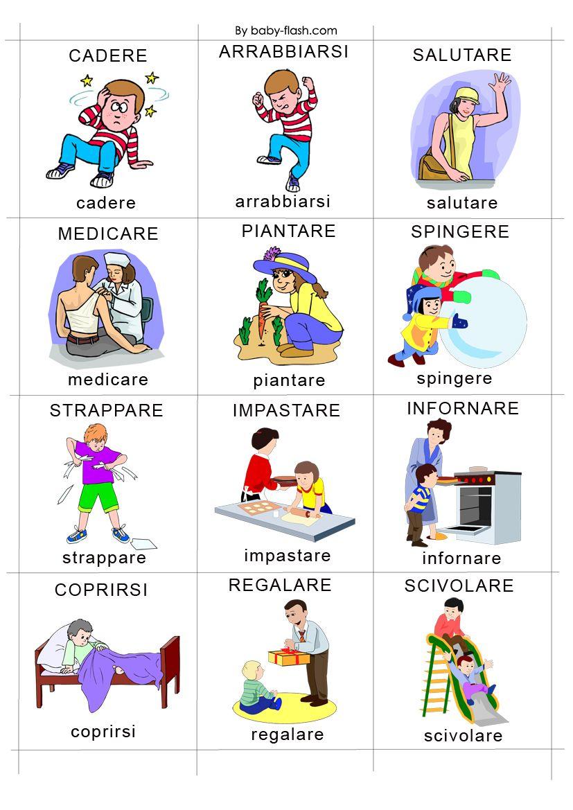 Картинка итальянские глаголы