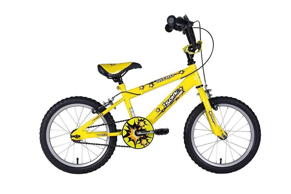 16 Bmx Kids Bicycle Junior Boys Bike Yellow Inch Children