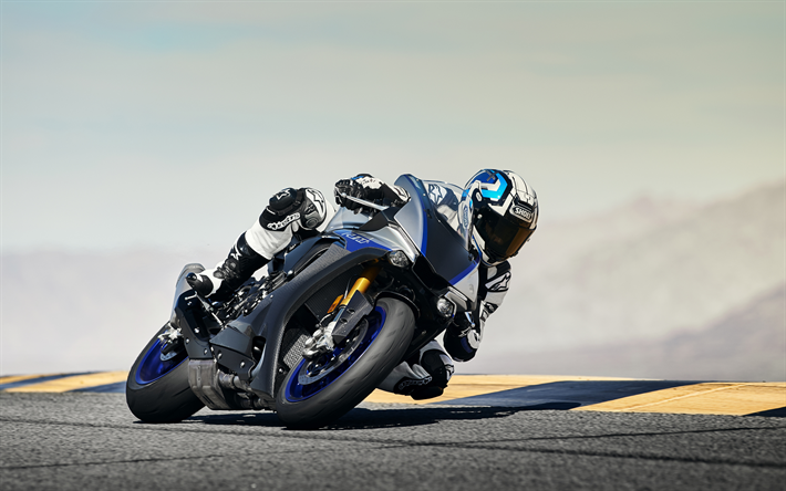 Download Wallpapers Yamaha Yzf R1m 2018 New Sportbike Racing