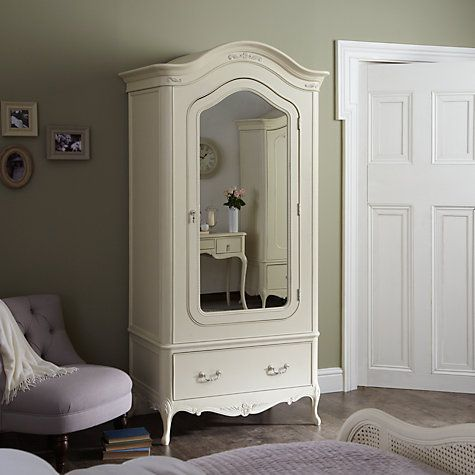 Bedroom Furniture John Lewis buy john lewis rose 1-door mirrored wardrobe, ivory online at