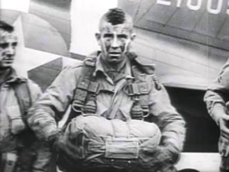 A paratrooper from the US 101st Airborne Division.