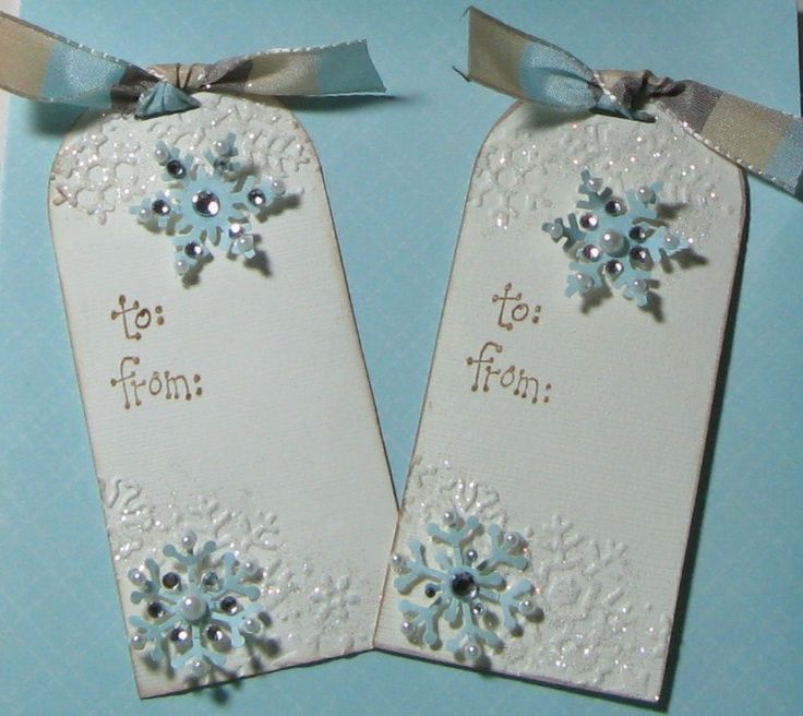 Scrapbook christmas gift tag ideas