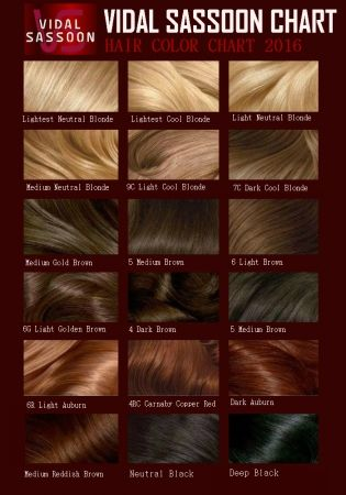Vidal sassoon hair color chart also pinterest loreal rh