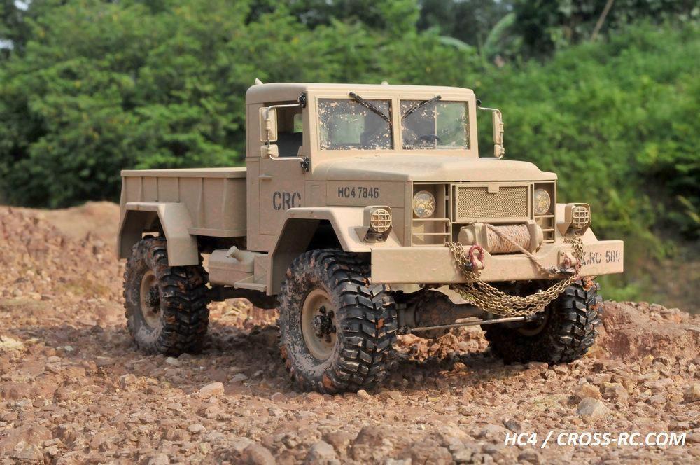 HC4 1/10 4x4 Scale Off Road Military Truck Kit Custom