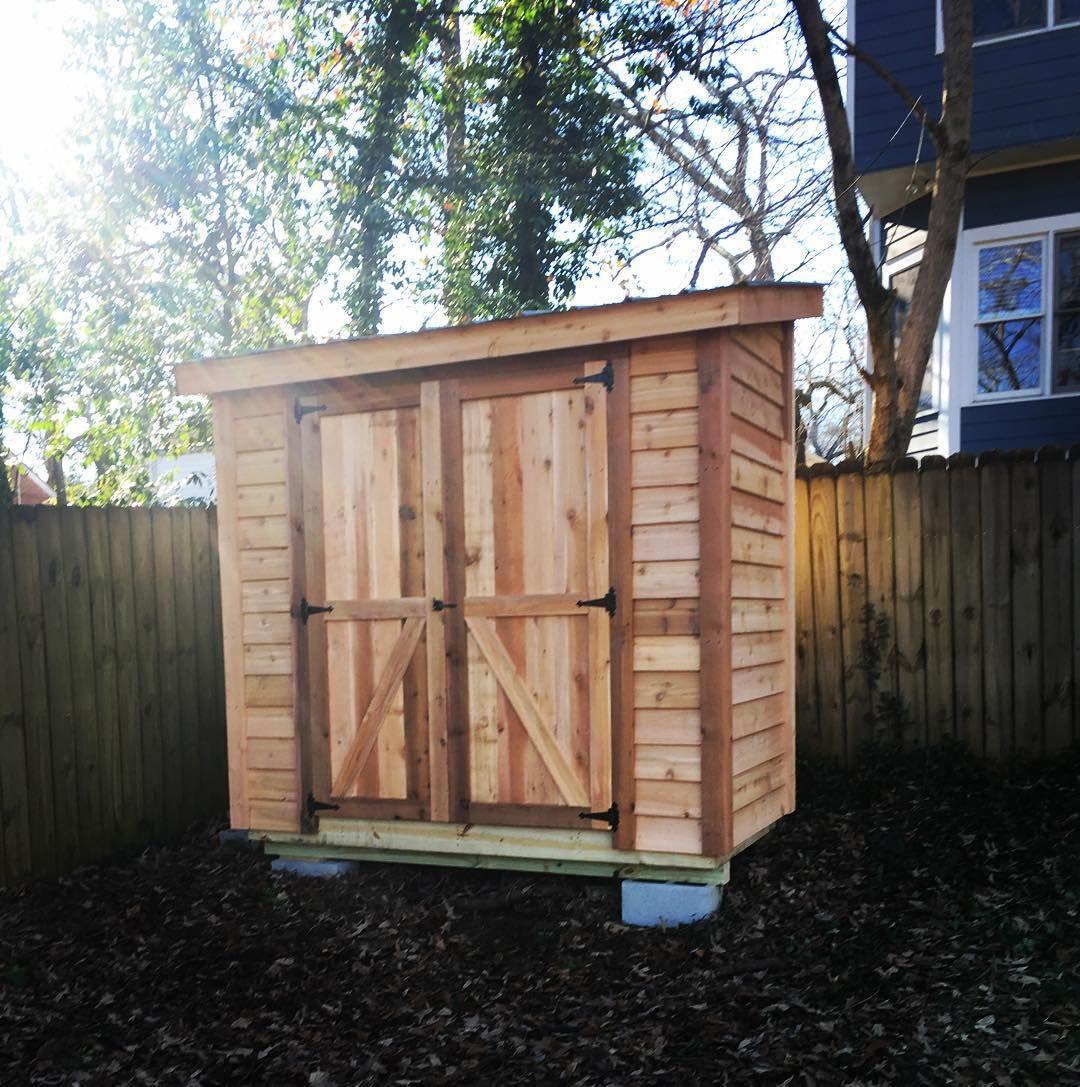 Garden Sheds 4 X 8 4x8 garden shed with red cedar siding. $1875