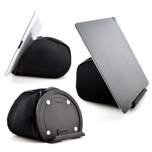 iPad Bed Stand & Lap Stand by iProp – Bean Bag Universal eReader & Tablet Holder; Black – For Sofa, Couch, Travel Pillow (iPad 1/2/3/4/Mini/New, Samsung Galaxy Tab, Google Nexus, Acer Iconia, Blackberry Playbook, Nook, HTC Flyer, Motorola Xoom, ASUS Transformer Prime, Xyboard, Sony Tablet S)