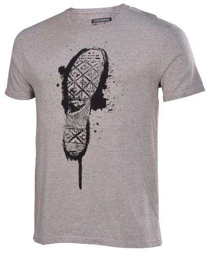 753362431a2a2e Converse Men s Chuck Taylor Shoe Sole T-Shirt-Heather Gray-Large - http
