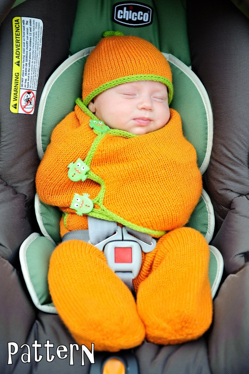make your own SnuggleBug Car Seat Cozy (DIGITAL KNITTING PATTERN ...