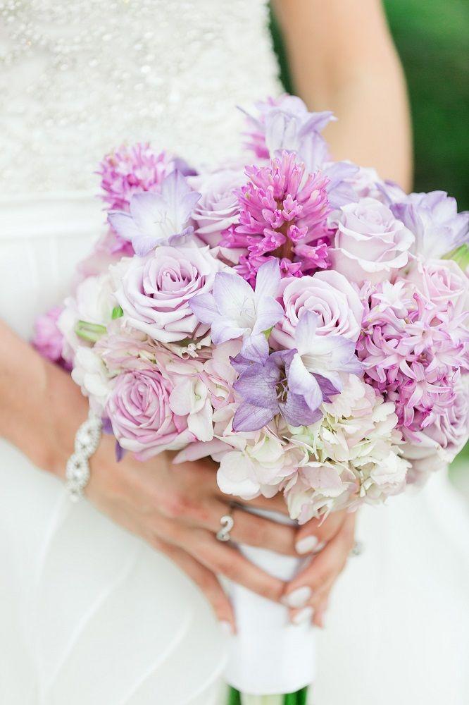 Light Purple Lavender Light Pink And Cream Bridal Bouquet
