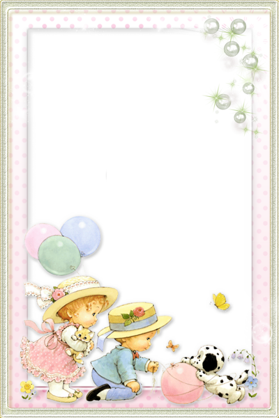 Kids Transparent PNG Photo Frame with Cute Girl and Boy | Frames ...
