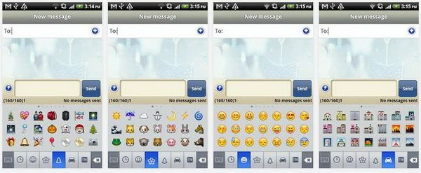 Plugin For Handcent Sms Lets You Send Many Cool Emoji Icons To The Iphone Or Android Phone Cool Emoji Iphone Emoji
