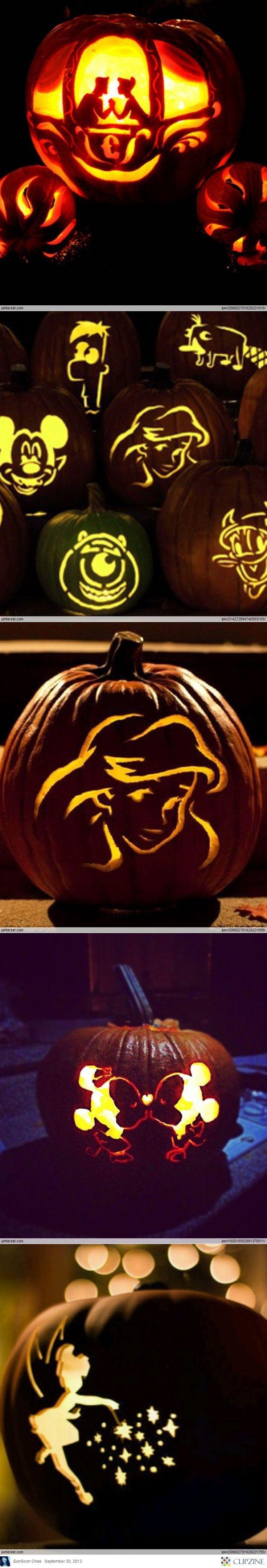 Disney pumpkin carving ideas happening pinterest
