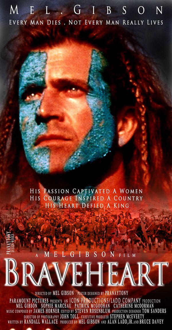 Braveheart Mel Gibson POSTER