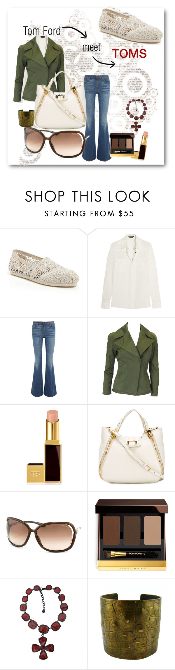 """""""Tom & Toms"""" by shaunnhicks ❤ liked on Polyvore featuring TOMS and Tom Ford"""