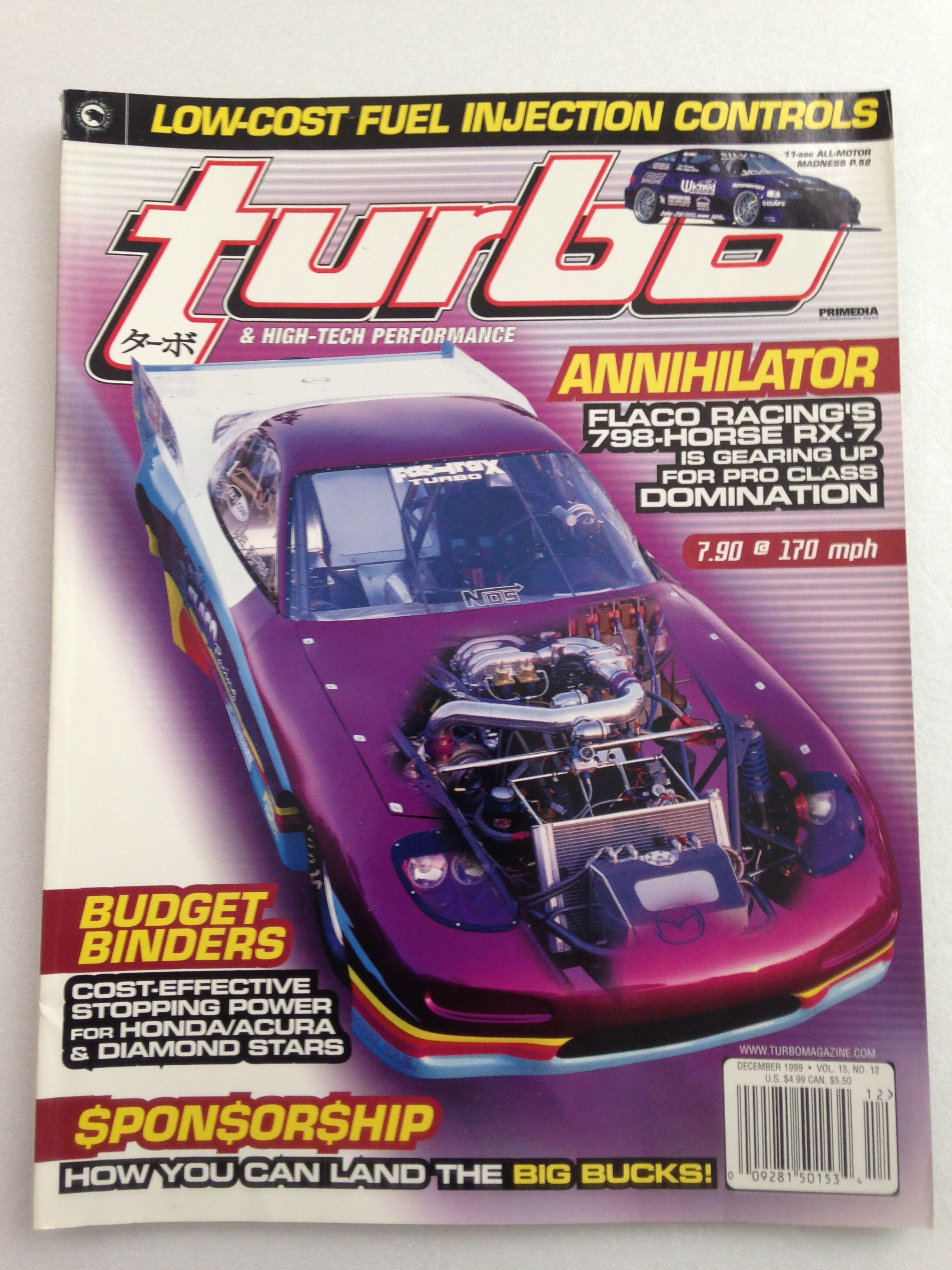 Turbo High Tech Performance 12 1999 Car Magazine Classic Car Magazine High Tech