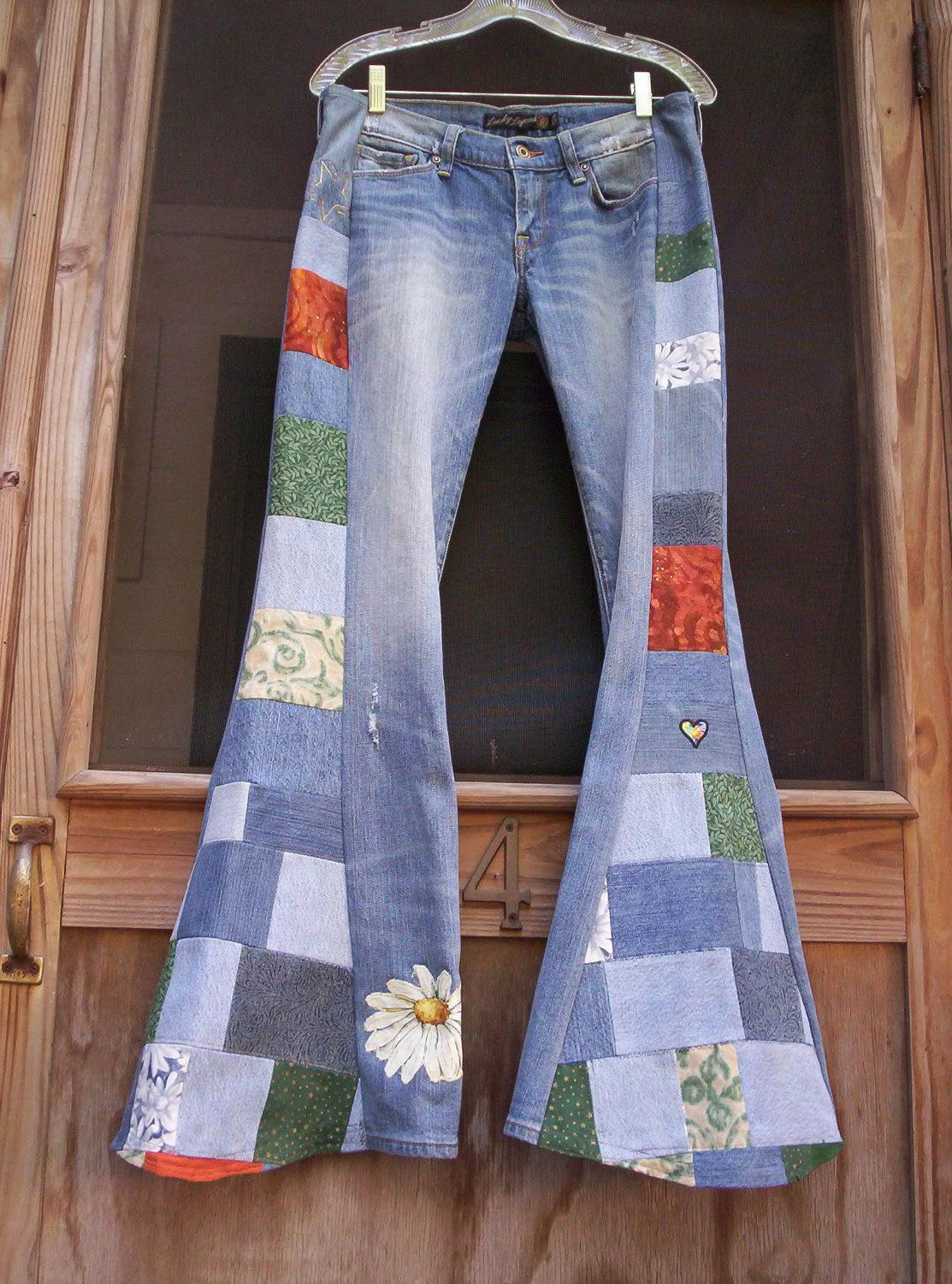 Hippie PATCHWORK BELLBOTTOM JEANS You Send Yours I ...
