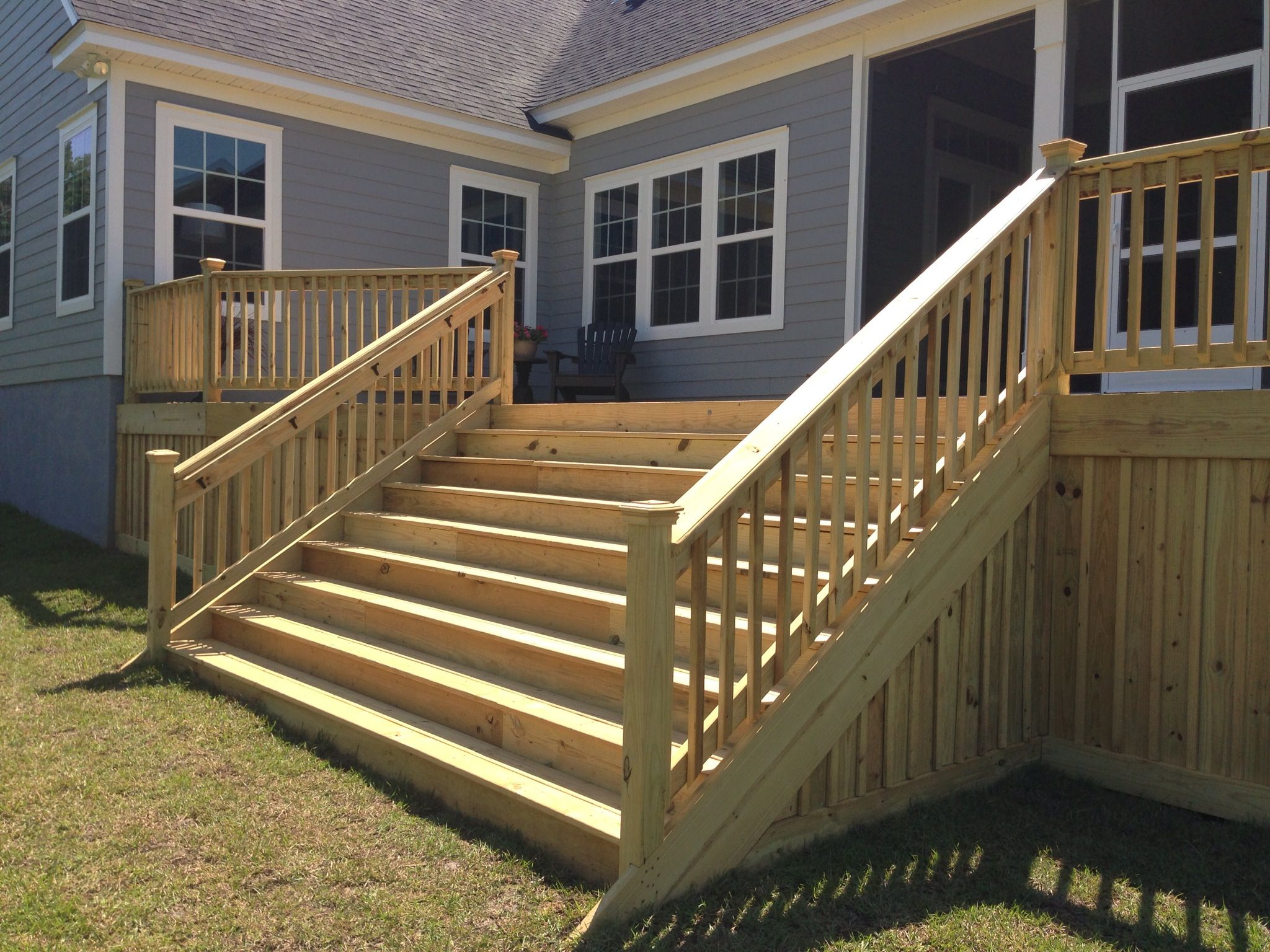 26 Most Stunning Deck Skirting Ideas To Try At Home Deck | Pressure Treated Deck Stairs | Flared | 5 Foot | Landing | Pre Built | Simple
