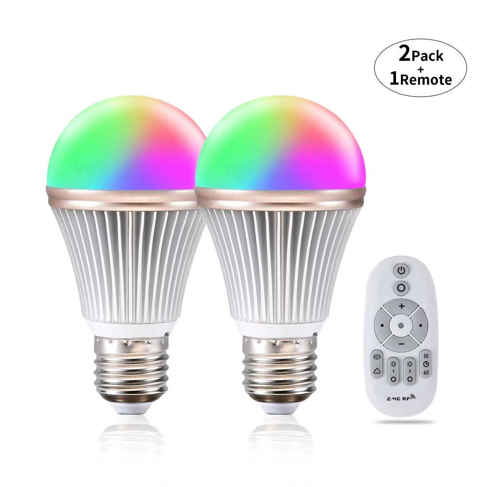 Dimmable Smart Led Light Bulb Color Changing Phwii Rgb Multicolor
